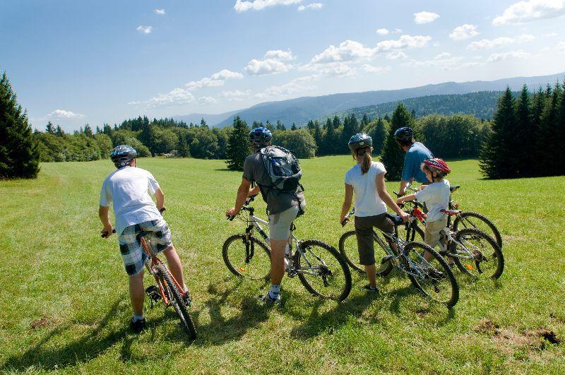 vélo montagne en groupe